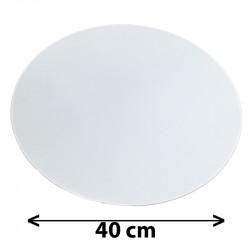 Tapa redonda para colgante, Ø 40 cm, pergamino blanco.