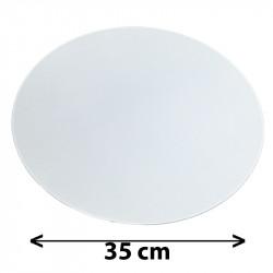 Tapa redonda para colgante, Ø 35 cm, pergamino blanco.