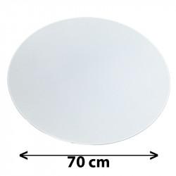 Tapa redonda para colgante, Ø 70 cm, pergamino blanco.