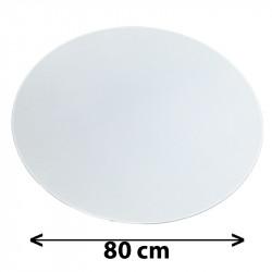 Tapa redonda para colgante, Ø 80 cm, pergamino blanco.