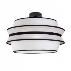 Lámpara de techo moderna, Serie Flavia, armazón metálico en acabado negro, 1 luz, con pantalla Ø 40 cm