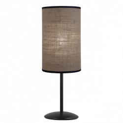 Lámpara de sobremesa moderno, Serie Dafne, armazón metálico en acabado negro, 1 luz, con pantalla cilíndrica Ø 15 cm.
