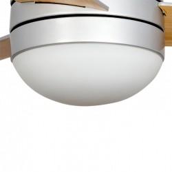 327113407 - Lámpara de techo plafón, Serie Salina, en acabado níquel satinado, iluminación LED integrada
