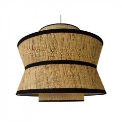 Lámpara de techo, Serie Toledo, con pendel en acabado negro, 1 luz, con pantalla triple Ø 50 cm