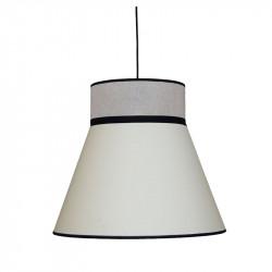 Lámpara de techo colgante moderno, pendel de plástico negro, 1 luz, con pantalla Ø 40 cm.