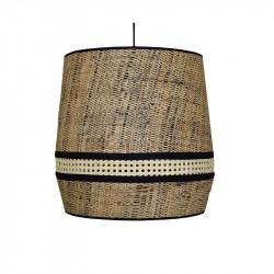 Lámpara de techo colgante moderno, pendel de plástico negro, 1 luz, con pantalla Ø 45 cm, combinada.