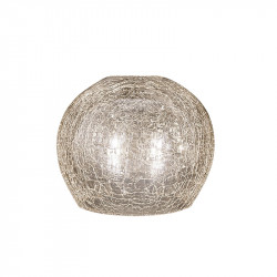 Tulipa de cristal para lámpara, Grecale ámbar E27 15x15x12 cm.