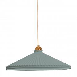 Lámpara de techo colgante retro vintage, Serie Elena, estructura metálica con portalámparas metálico dorado, 1 luz