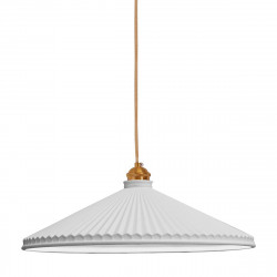 Lámpara de techo colgante retro vintage, Serie Elena, estructura metálica con portalámparas metálico dorado, 1 luz, con pantalla