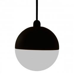 Lámpara de techo colgante moderno, Serie Eclipse, estructura metálica y hormigón en acabado negro, 1 luz,