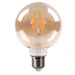 Bombilla LED globo decorativa de la serie FILAMEN. Estilo vintage con filamento led y cristal con terminación AMBAR.