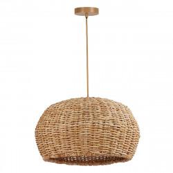 Lámpara de techo colgante moderno, Serie Nest, elaborada de manera artesanal con ratán natural.