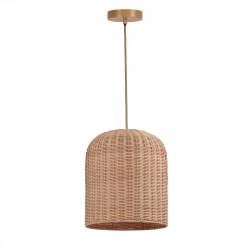 Lámpara de techo colgante moderno, Serie Babel, elaborada con ratán natural.