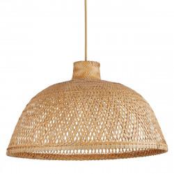 Lámpara de techo colgante moderno, Serie Tan, de diseño ligero y natural. Su pantalla de fibras de bambú