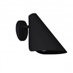 Aplique de pared moderno, Serie Lisboa, estructura metálica en acabado negro arenado, 1 luz