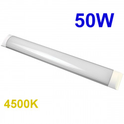 Regleta LED T8 plana, 50W 4.500 lm 3.000K, 4.500K ó 6.000K, 110º de apertura. IP44.