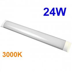 Regleta LED T8 plana, 24W 2.160 lm 3.000K, 4.500K ó 6.000K, 110º de apertura. IP44