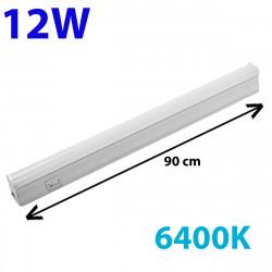 Regleta LED, Tipo T5, con interruptor, ↔ 90 cm, 12W 1.200lm, color de la luz 6.400K. Conectable con otra regletas T5.