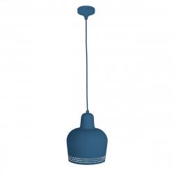 Lámpara de techo colgante moderno, Serie Isa, estructura metálica en acabado azul añil mate, 1 luz.