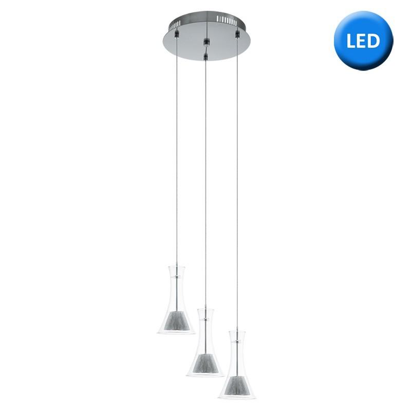 Lámpara de techo plafón, Serie Musero, armazón metálico en acabado níquel satinado, iluminación LED integrada, 3 luces