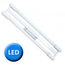 1500 - Lámpara de techo plafón, tubos iluminación LED para cocina, en varios acabados.