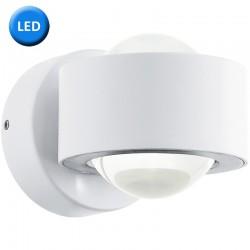 Aplique de pared, iluminación LED integrada, en acabado blanco, Serie ONO. Da una iluminación indirecta