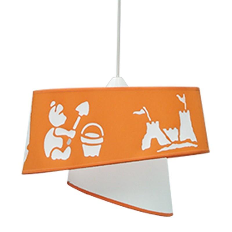 Lámpara de techo colgante, Serie Beach, 1 luz, con doble pantalla