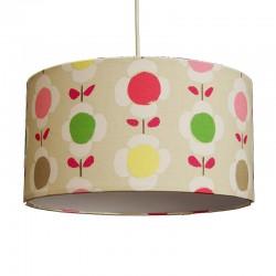 Lámpara de techo colgante, con pantalla pvc Ø 35 cm, con motivos fantasía beige.