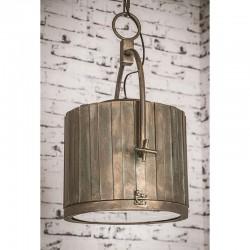 490WA-PLATA - Lámpara de techo, Serie Gales, metal en acabado níquel satinado, con pantalla en acabado plata