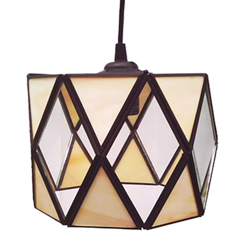 Lámpara de techo farol, estilo granadino, Serie Tamboril, armazón metálico en acabado negro, 1 luz