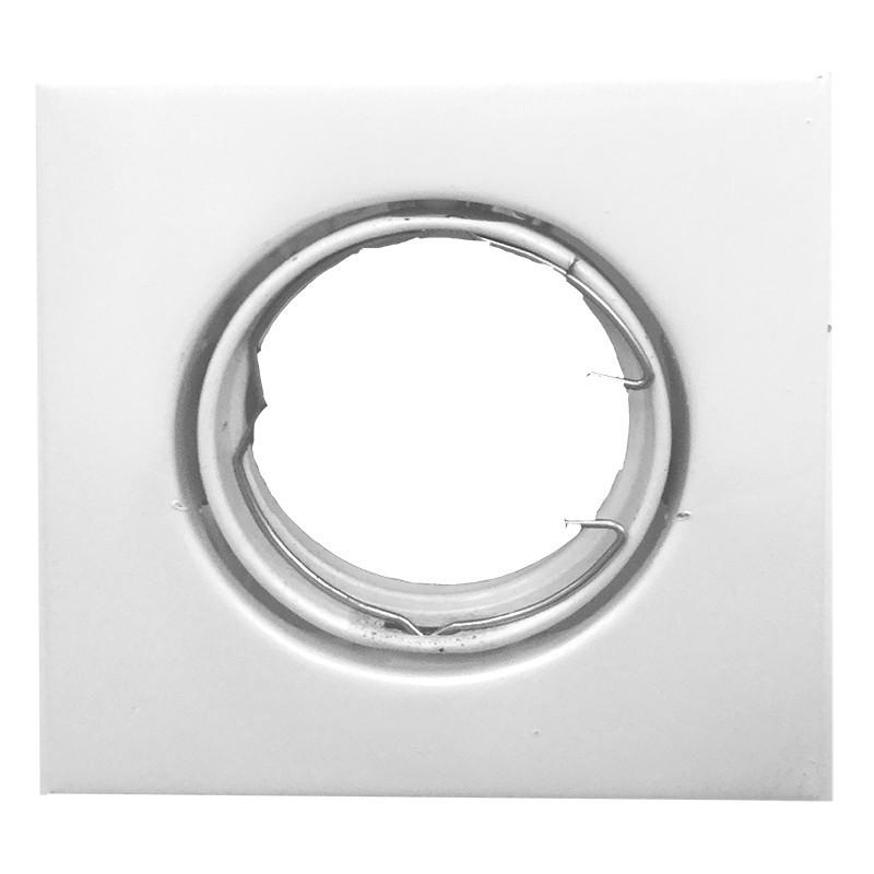Foco empotrable orientable cuadrado blanco