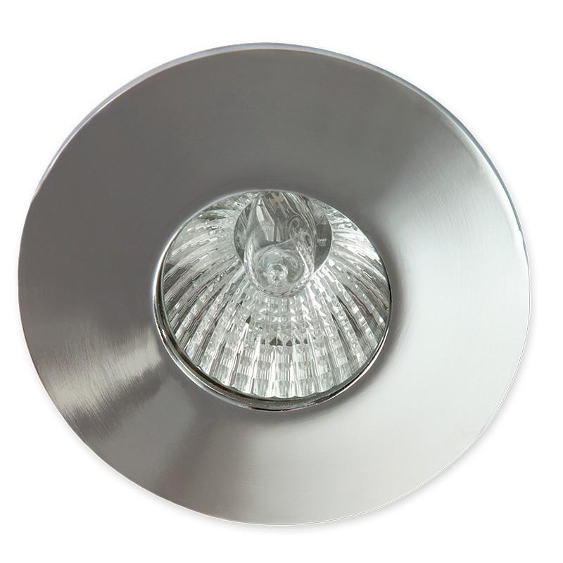 Empotrable Serie Trenza, estructura de aluminio en acabado cromo brillo, 1 luz,  1xGU10 (no incluida)