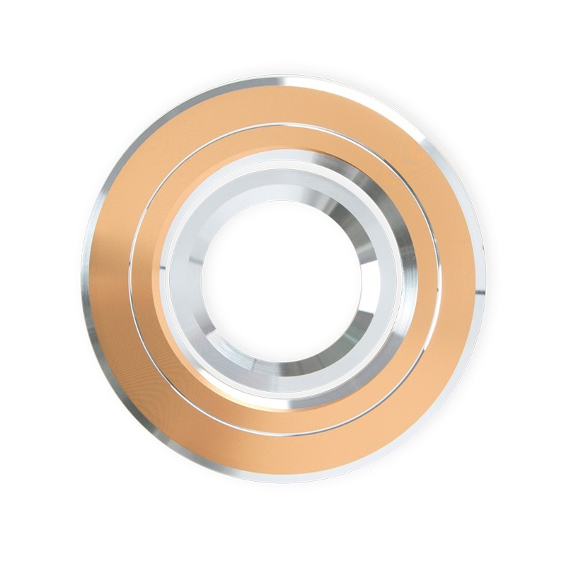 Foco empotrable orientable, redondo, Serie Andros, en acabado Oro/Cromo, con portalámparas