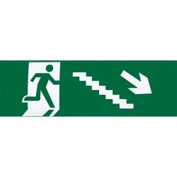 A124SAL-ESC-DE-BAJ - Adhesivo de salida de emergencia escalera derecha de bajada