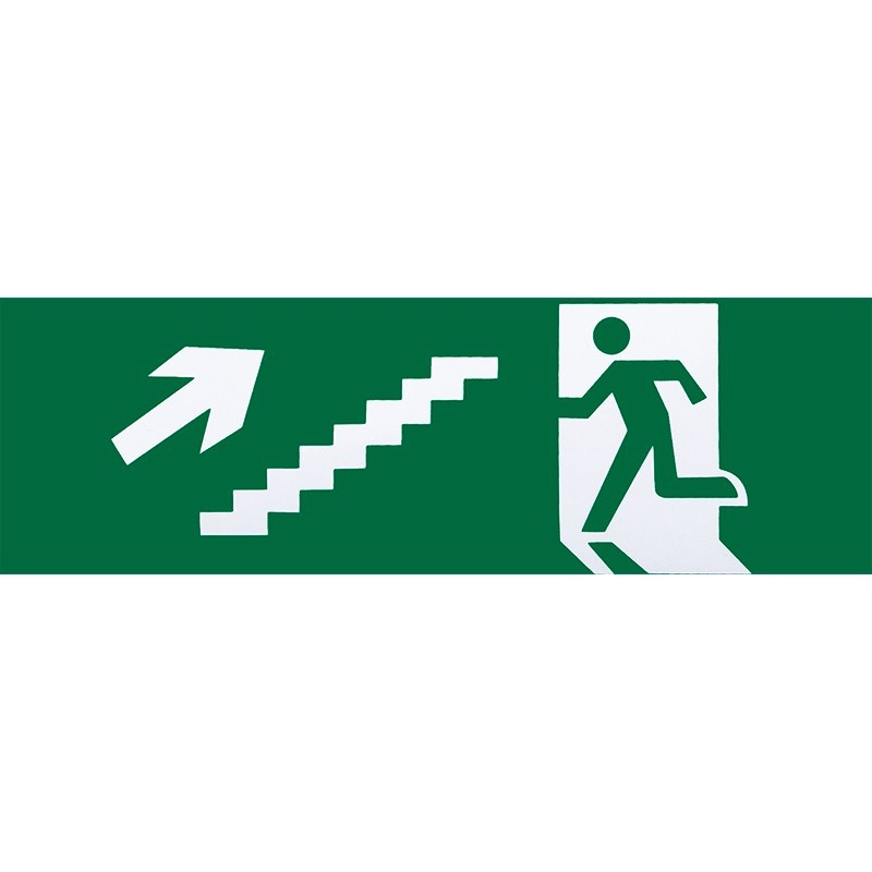 A124SAL-ESC-DE-SUB - Adhesivo de salida de emergencia escalera derecha de subida