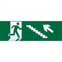 A124SAL-ESC-IZ-SUB - Adhesivo de salida de emergencia escalera izquierda subida