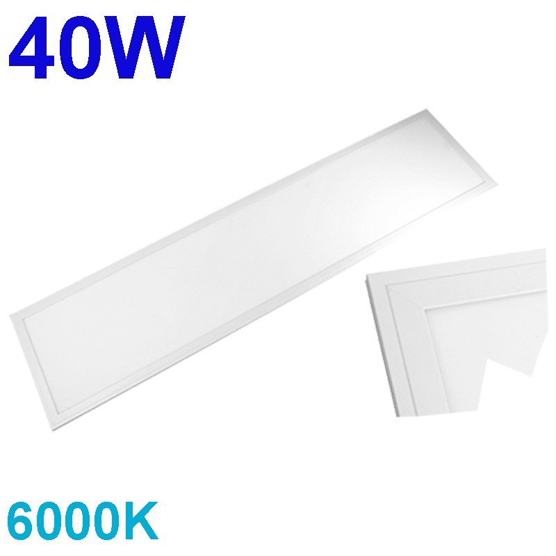 57-LED-PLF30120-40W - Panel LED blanco rectangular 30x120 cm, 40W