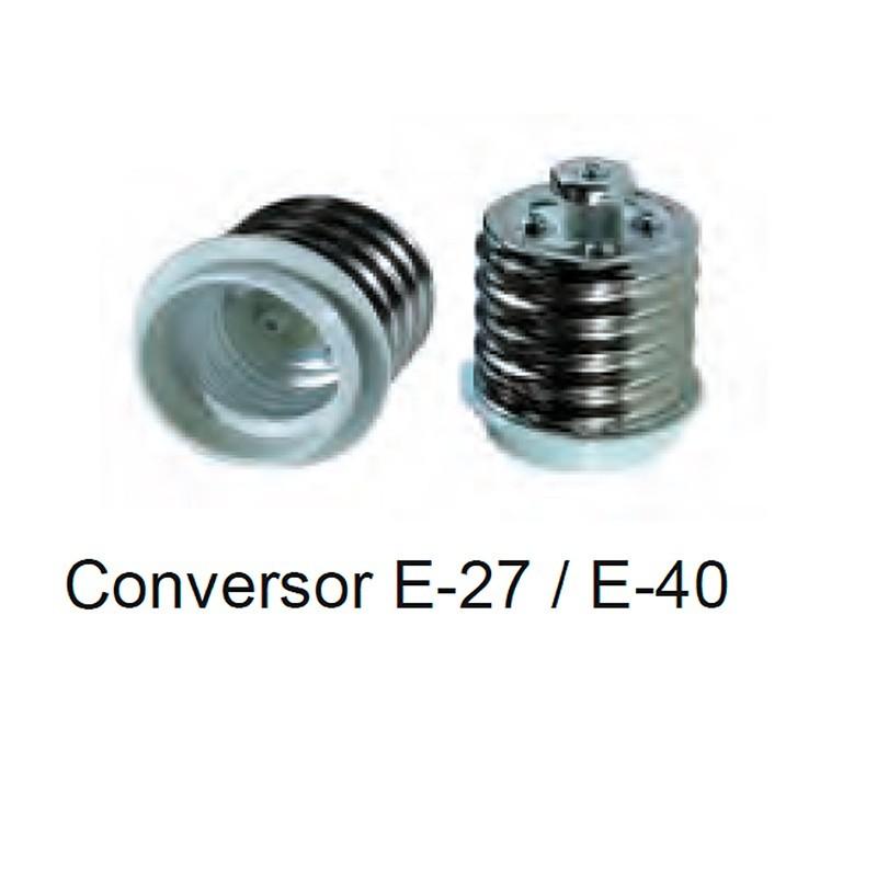 Conversor portalámpras E27 a E40.