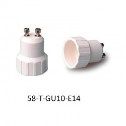 Adaptador portalámparas GU10 para E14.