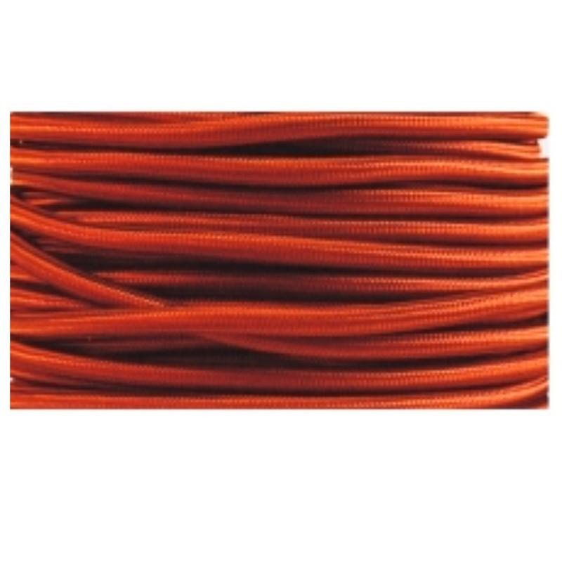 Cable textil plancha + PVC 2x0.75 Manguera redonda, en acabado caldera.