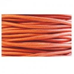 Cable textil plancha + PVC 2x0.75 Manguera redonda, en acabado cobre.