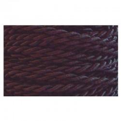 Cable trenzado seda PVC 2x0.75, en acabado negro.