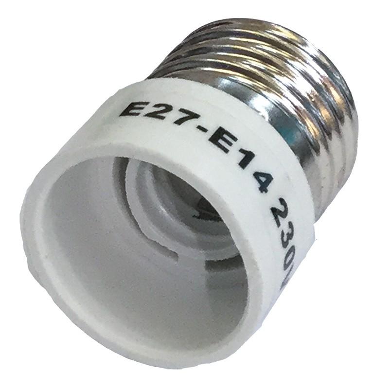 Adaptador portalámparas E27 para E14
