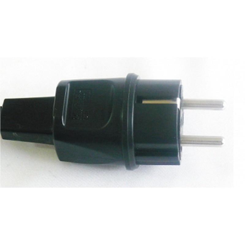 Clavija bipolar cable rectangular (guirnalda)