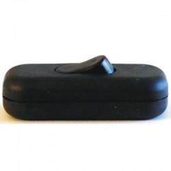 Interruptor para lámpara de sobremesa en acabado negro.