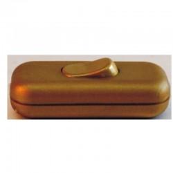 Interruptor para lámpara de sobremesa en acabado oro.