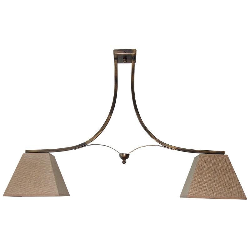 160-2 - Lámpara de techo, de forja, metal en varios acabados