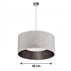 Lámpara de techo colgante, de pantalla cilíndrica Serie Vulkano Ø 40 cm,