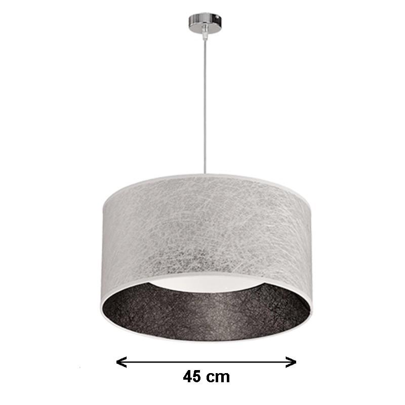 Lámpara de techo colgante, de pantalla cilíndrica Serie Vulkano Ø 45 cm