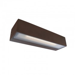 Aplique de pared, Serie Tisa, de aluminio en acabado marrón, con difusor acrílico.